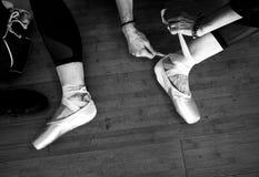 De schoenen van Pointe stock fotografie