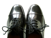 De schoenen van Poished stock afbeeldingen