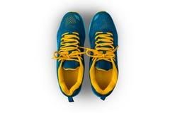De schoenen van de sport op wit stock afbeeldingen