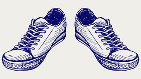 De schoenen van sporten royalty-vrije illustratie