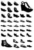 De schoenen van vrouwen Stock Afbeeldingen
