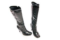 De schoenen van vrouwen op hoge geïsoleerder hielen Royalty-vrije Stock Foto's