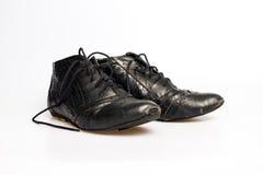 De schoenen van zwarte leervrouwen Royalty-vrije Stock Fotografie
