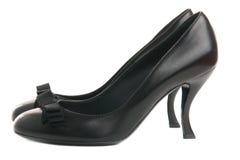 De schoenen van zwarten Stock Foto