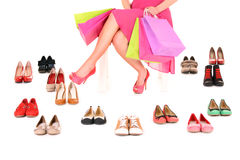 De schoenen zijn rond allen! stock afbeelding