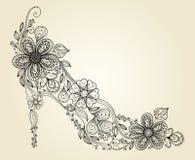 De schoenenachtergrond van de manier stock illustratie