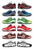 De illustratie van sportschoenen Stock Fotografie