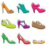 De schoenenontwerp van de manier Royalty-vrije Stock Afbeeldingen