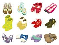De schoenenpictogram van het beeldverhaal Stock Foto's
