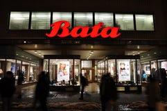 De schoenenwinkel van Bata Stock Afbeelding