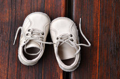 De schoenschoenen van de baby Stock Foto