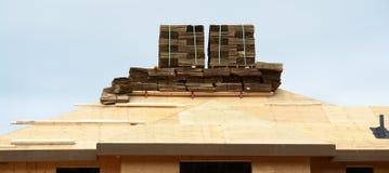 De Schokken van de Contractant van het Dakwerk van het dak royalty-vrije stock foto