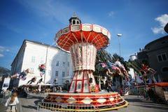 De schommelingsrit van de ketting in Carnaval Stock Afbeelding