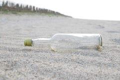 De schone Fles van het Glas Royalty-vrije Stock Afbeelding