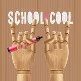 De school is koel royalty-vrije illustratie