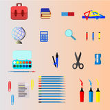 De school levert vector, ontwerp Illustratie Stock Foto