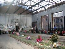 De school van Beslan stock fotografie