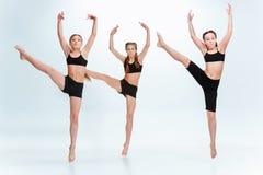 De school van de jonge geitjesdans, het ballet, de hiphop, de straat, funky en moderne dansers stock afbeelding
