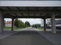 2014 de school van Dessau Duitsland Bauhaus Stock Fotografie