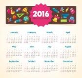 De school van het kalender 2015 jaar Stock Afbeeldingen