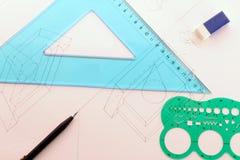 De school van het ontwerp Stock Afbeelding
