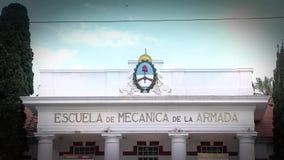 De School van marineonderofficiers van Werktuigkundigen, Buenos aires, Argentinië stock video