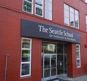 De School van Seattle van theologie en psychologie - SEATTLE/WASHINGTON - APRIL 11, 2017 stock afbeeldingen