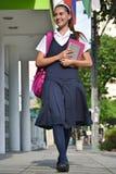 De School van Studententeenager walking to stock foto