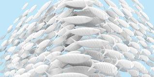 De School van Uncontrasting van Gestileerde Vissen vector illustratie