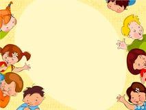 De schoolachtergrond van kinderen Stock Foto