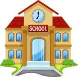 De schoolbouw beeldverhaal Stock Afbeelding