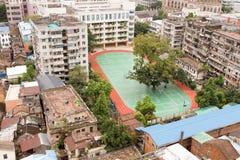 De schoolbouw in China Stock Afbeeldingen