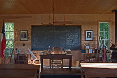 De Schoolhuis van het land Stock Afbeelding