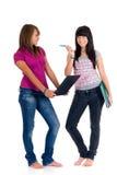 De schoolmeisjes van de tiener Stock Foto's