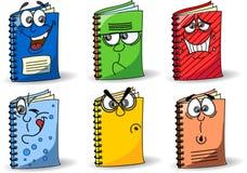 De schoolnotitieboekjes van het beeldverhaal, vector Stock Afbeelding
