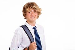 De schoolstudent van de tiener Stock Afbeeldingen