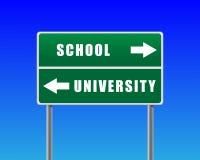 De schooluniversiteit van Roadsign. Royalty-vrije Stock Fotografie