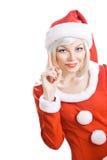 De schoonheid de Kerstman van Kerstmis Stock Foto's