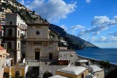De schoonheid van de Amalfi kust in Italië royalty-vrije stock foto's