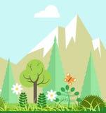 De schoonheid van de bergaard in de lente of de zomertijd royalty-vrije illustratie