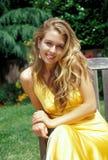 De Schoonheid van de blonde Stock Foto