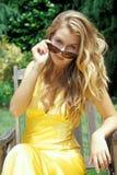 De Schoonheid van de blonde Stock Foto's