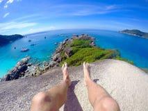 De schoonheid van de Similan-Eilanden, Thailand, Andaman-overzees, Stock Foto's