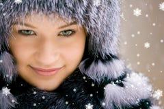 De schoonheid van de sneeuw Royalty-vrije Stock Afbeeldingen