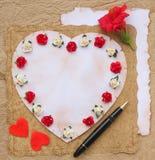 De schoonheid van de valentijnskaartendag om lijst te doen Stock Fotografie
