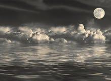 De Schoonheid van de volle maan Stock Afbeeldingen
