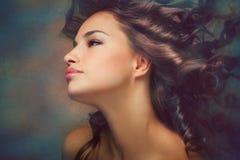 De schoonheid van de vrouw stock fotografie
