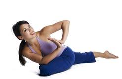 De Schoonheid van de yoga Stock Afbeeldingen