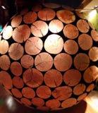 De schoonheid van een houten bol Stock Foto's