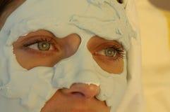Facemaskschoonheid stock afbeelding